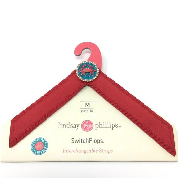 Lindsay Phillips Switch Flops Straps SHARI Size Medium Orange Switchflops New